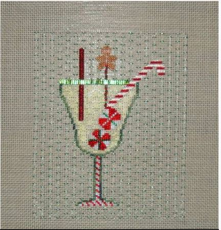 click here to view larger image of Candycane Drink (hand painted canvases)