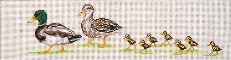 Duck Walk - 18M - click here for more details about this hand painted canvases