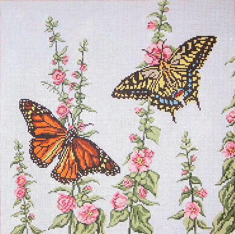 Butterfly Garden Square - click here for more details about this hand painted canvases