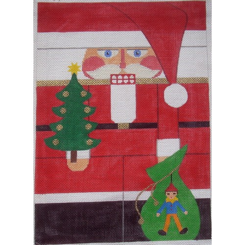 Nutcracker - Red Santa - click here for more details about this hand painted canvases