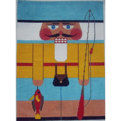 Nutcracker - Fisherman - click here for more details about this hand painted canvases