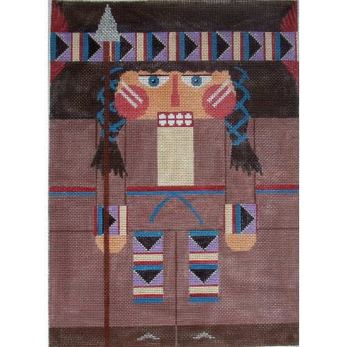 Nutcracker - Red Feather Indian - click here for more details about this hand painted canvases