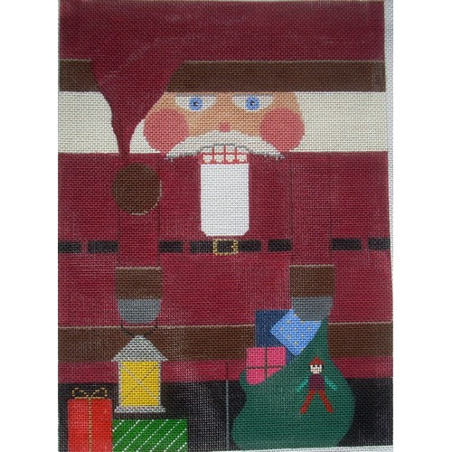 Nutcracker - Burgundy Santa - click here for more details about this hand painted canvases