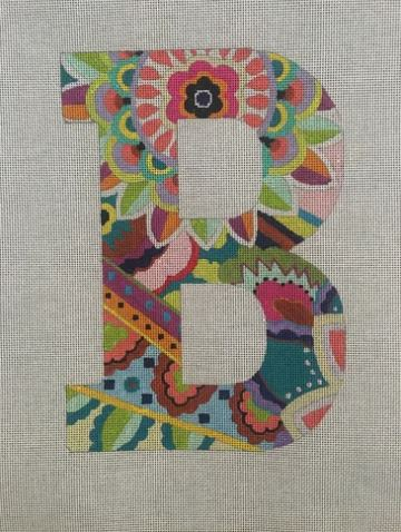 Alphabet 1500 Floral Series - 12in hand painted canvases