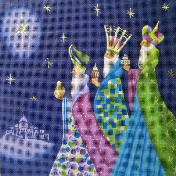 Three Kings hand painted canvases
