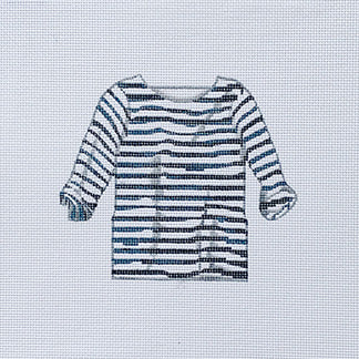 Navy/White Striped Shirt hand painted canvases