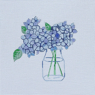 Hydrangea in Water hand painted canvases