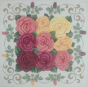 click here to view larger image of Bed of Roses (hand painted canvases)
