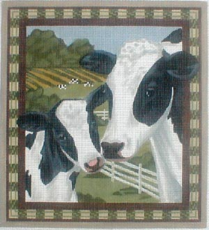 click here to view larger image of Cow and Calf (hand painted canvases)