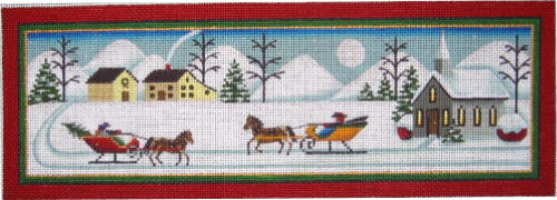 click here to view larger image of Country Winter (hand painted canvases)