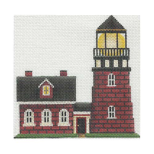 click here to view larger image of Brick Lighthouse (hand painted canvases)