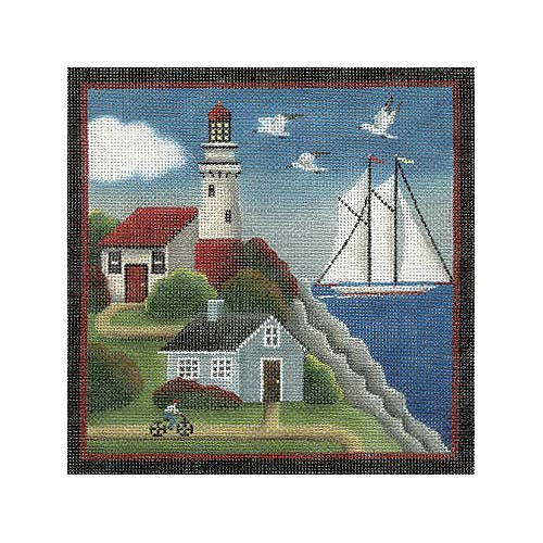 click here to view larger image of Lighthouse Bay (hand painted canvases)