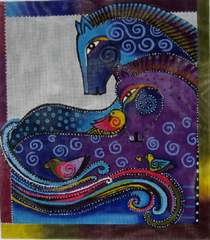 click here to view larger image of Aquatic Mares (hand painted canvases)