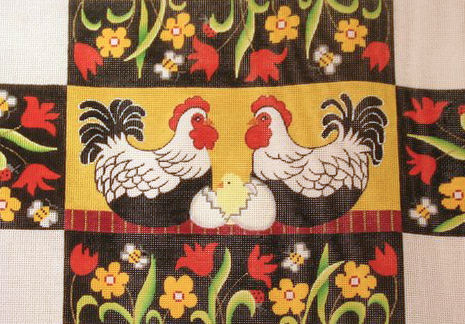 click here to view larger image of Chicken Brick Cover (hand painted canvases)