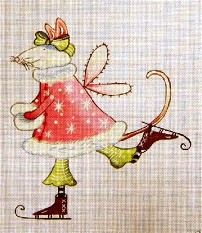 click here to view larger image of Mouse on Skates (hand painted canvases)