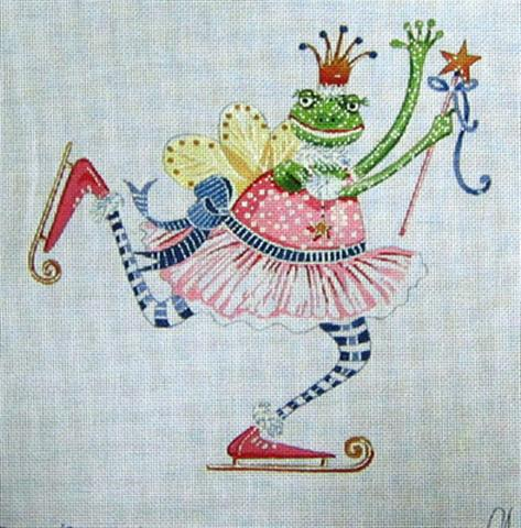 click here to view larger image of Frog on Skates (hand painted canvases)