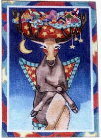 click here to view larger image of Reindeer (hand painted canvases)