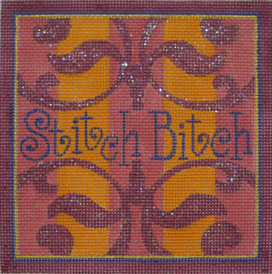 click here to view larger image of Stitch Bitch (hand painted canvases)