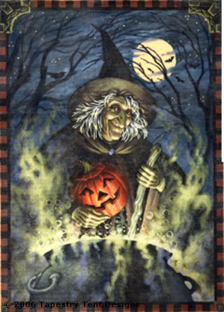 Witches Brew hand painted canvases