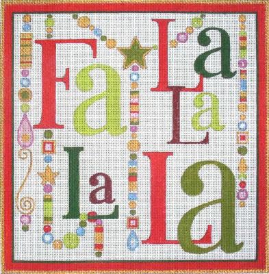 click here to view larger image of Fa La La La La (hand painted canvases)