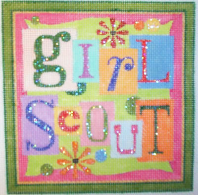 click here to view larger image of Girl Scout (hand painted canvases)