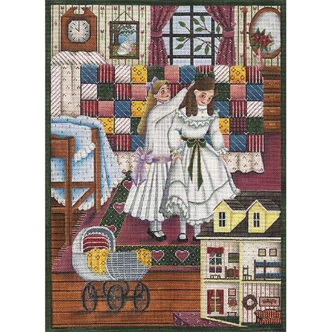 click here to view larger image of Patchwork Quilt (hand painted canvases)