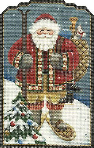 click here to view larger image of Alpine / Swiss Santa (hand painted canvases)