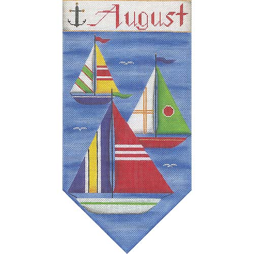 click here to view larger image of August Banner (hand painted canvases)