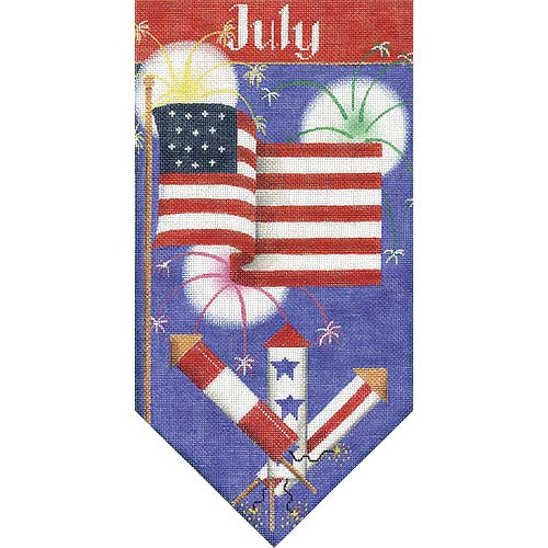 click here to view larger image of July Banner (hand painted canvases)