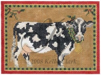 click here to view larger image of Christmas Cow (hand painted canvases)