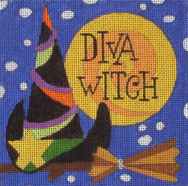 click here to view larger image of Diva Witch (hand painted canvases)