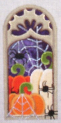 click here to view larger image of Haunted Window (hand painted canvases)