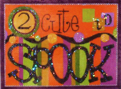 click here to view larger image of 2 Cute To Spook (hand painted canvases)