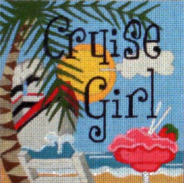 click here to view larger image of Cruise Girl (hand painted canvases)