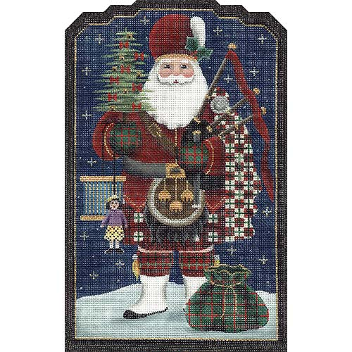 click here to view larger image of Scottish Santa (hand painted canvases)