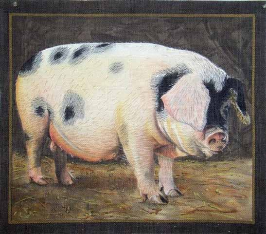 click here to view larger image of Gloucestershire Old Sports Pig (hand painted canvases)