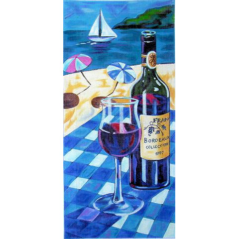 click here to view larger image of Bordeaux (hand painted canvases)