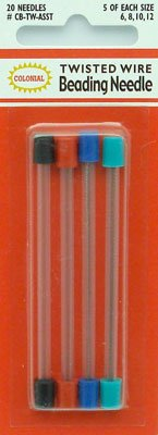 click here to view larger image of Beading Needles Twisted Wire Assorted (accessories)