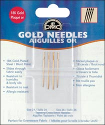 click here to view larger image of DMC Gold Tapestry Needles Size 24 (accessories)