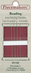 click here to view larger image of Piecemakers Beading Needles (accessories)