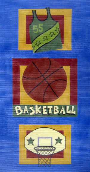 click here to view larger image of Basketball Wall Hanging (hand painted canvases)