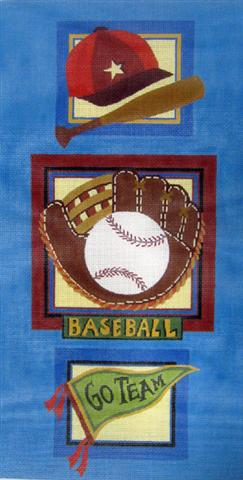 click here to view larger image of Baseball Wall Hanging (hand painted canvases)