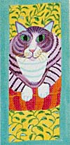 click here to view larger image of Cat (hand painted canvases)