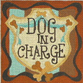 click here to view larger image of Dog In Charge (hand painted canvases)