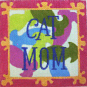 click here to view larger image of Cat Mom (hand painted canvases)