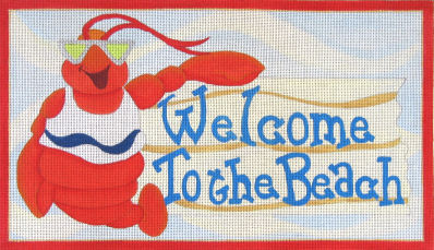 click here to view larger image of Welcome to the Beach (hand painted canvases)