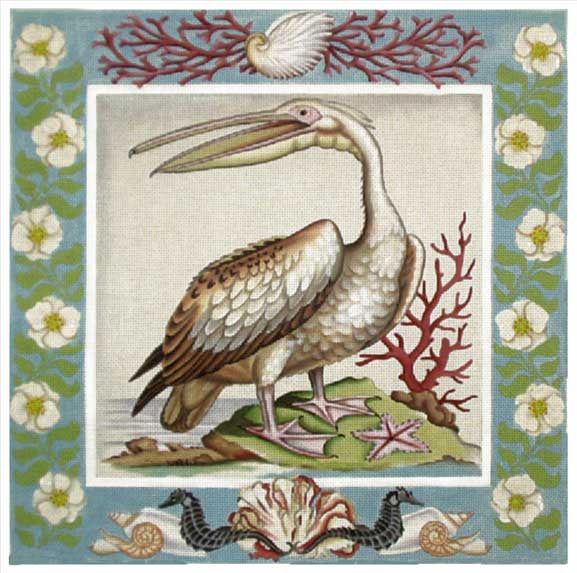 click here to view larger image of Vintage White Pelican (hand painted canvases)