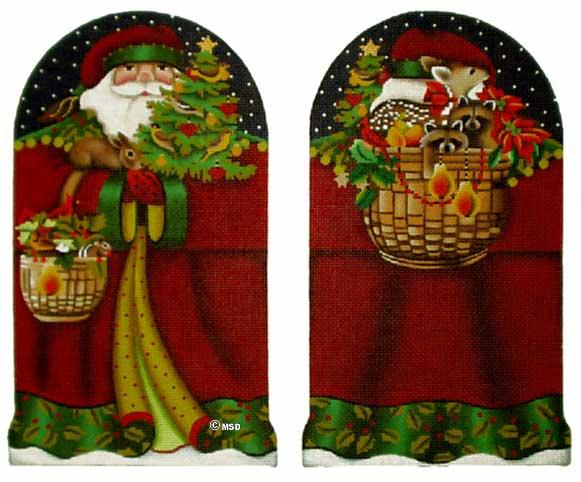 click here to view larger image of Forest Santa Claus - 18 mesh (hand painted canvases)