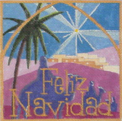 click here to view larger image of Feliz Navidad (hand painted canvases)