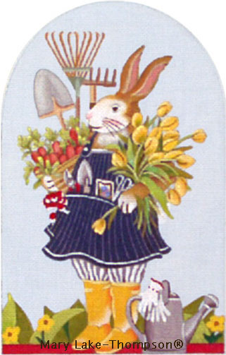 click here to view larger image of Gardening Bunny (hand painted canvases)